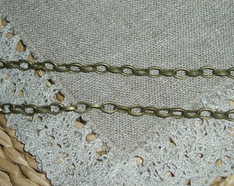 Antique Bronze Link-Opened Cable Chains 6.5x4 mm