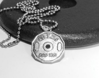 Dad gift, Father's Day, Mens Fitness, Fitness Jewelry, Men's Necklace, Fitness Necklace, Bodybuilding, Bodybuilder, Men's gift