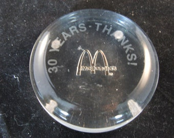 McDonalds restaurant 30 years Thanks figurine