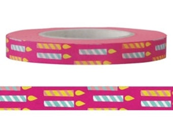 Candle Washi / Masking Tape - 6 mm x 15 M