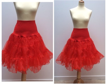 50's style rock & roll petticoat, one size, red, black, white, ivory