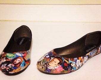 Women's Comic Book Shoes-Made to order!