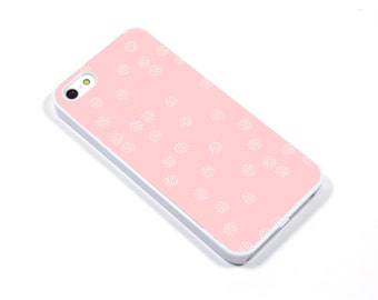 iPhone 5/5s iPhone 5c iPhone 6/6plus Samsung Galaxy S3 S4 S5 iPod touch 4th/5th Gen - speckle pink white