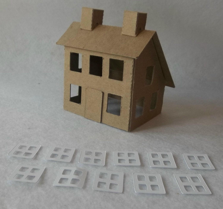 putz style house saltbox house diy little village cardboard zoom