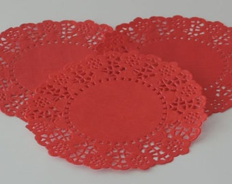 Red Paper Doilies - Package of 75