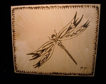 Dragonfly Imaginary Dragonfly Fantasy Burnt wood art