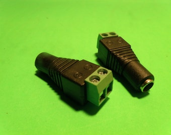 "5.5/2.1"" Female Power Connector for LED Strip Light - By Custom LED Kits"