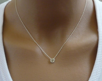 E-mail at sign @ pendant, Symbol necklace, Delicate necklace, Simple necklace, Original gift