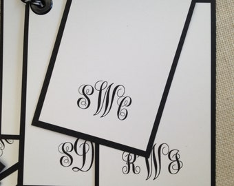 Simply Classy and Stylish Monogram Gift Tags - Set of 8