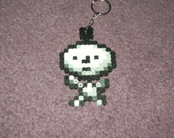 EarthBound Clumsy Robot keychained perler sprite
