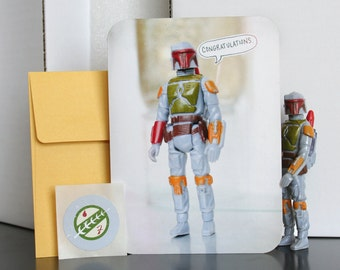 Star Wars Card - Boba Says Congratulations