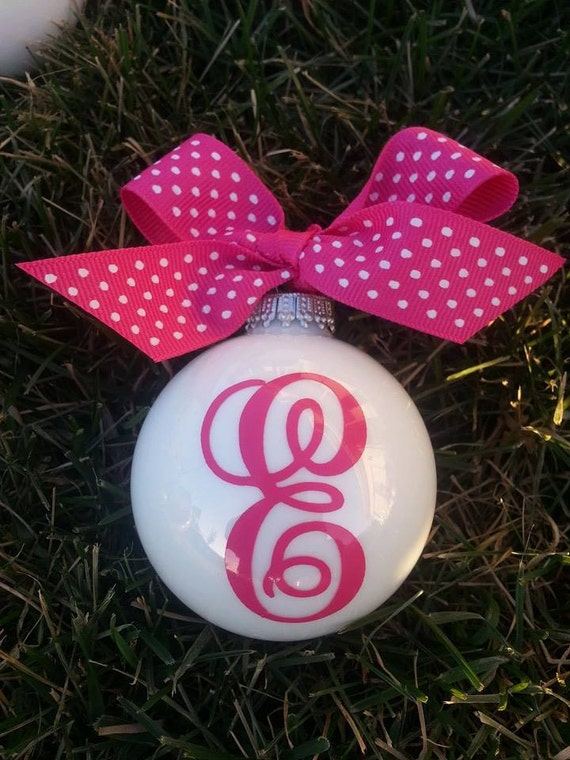 Items similar to monogrammed personalized christmas for Custom christmas tree ornaments