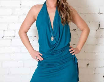 Backless Mini Dress / Tunic  Casual anytime day or evening - Fun - Dance - Yoga- Festivals
