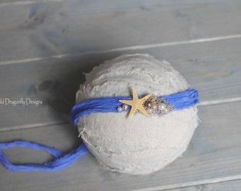 Starfish newborn tieback headband