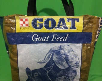 Goat Feed bag totes
