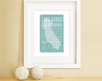 My Favorite State STATE OF CALIFORNIA art, Typographic Art, Personalized Travel Art, State Art, U.S. State Art Print (customizable)