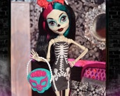 Monster Doll SIGNATURE SERIES Pop Culture Skeleton Mini Dress