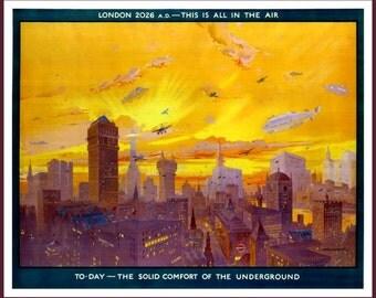 London Underground  Advertising Poster print