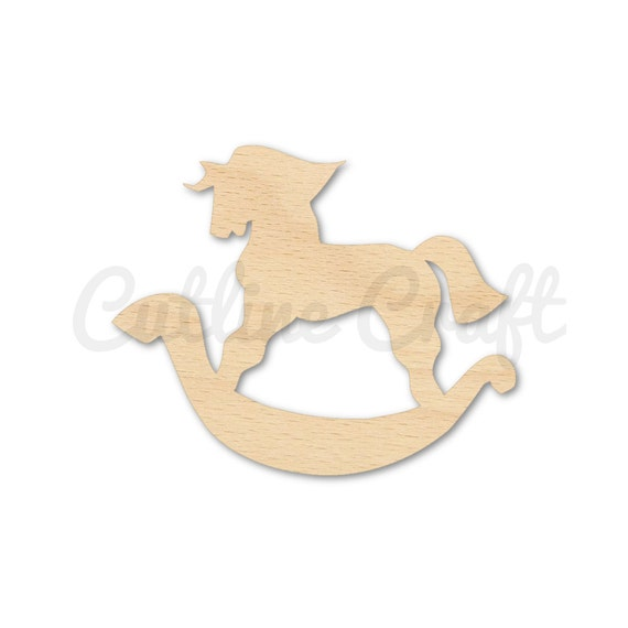 Rocking horse style 2528 cutout shapes crafts gift by for Wooden horseshoes for crafts