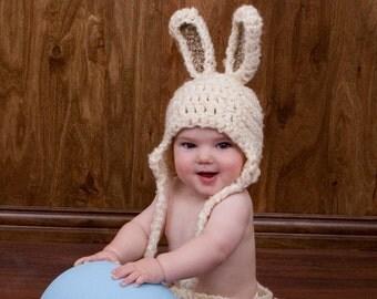 Pattern Bunny Baby Hat, Bunny Crochet Pattern, Quick and Easy, Beanie, Rabbit, Toboggan, Animal, Easter, Bunny Costume, Girl, Boy