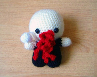 Crocheted Ood from Doctor Who Soft Toy Handmade