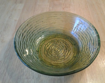 On Sale Collectible Glass Forest Green E O Brody Serving Salad Bowl