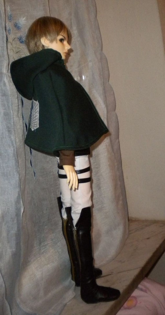 SnK/AoT Survey Corps Levi cosplay BJD Outfit for SD13
