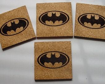 Batman cork coasters - set of 4