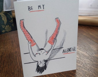 Be My Valentine- Rude Card