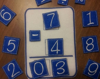 Math Board In the Hoop