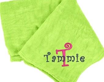 popular items for lime green blanket on etsy. Black Bedroom Furniture Sets. Home Design Ideas