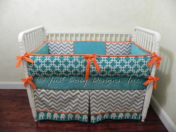 Custom Crib Bedding Set Marin Boy Baby by BabyBeddingbyJBD
