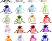 "5x7 ORGANZA SELECT COLOR custom list - 5""x7"" drawstring bag gift favor party bridal red blue green purple white black gold navy pink Mint"