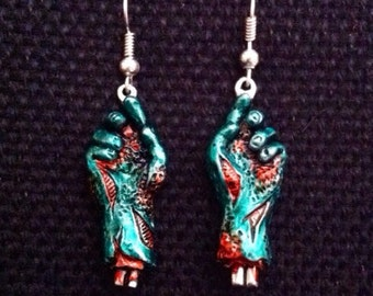 Zombie Hands Earrings Coloured