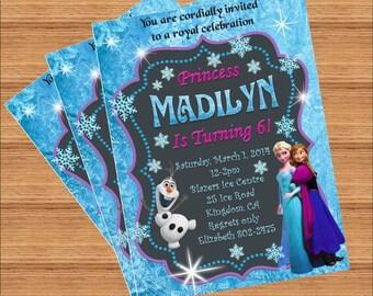 Frozen birthday invitation | Etsy