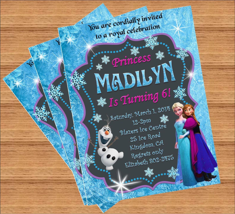 Frozen Birthday Invitation Custom Invitation
