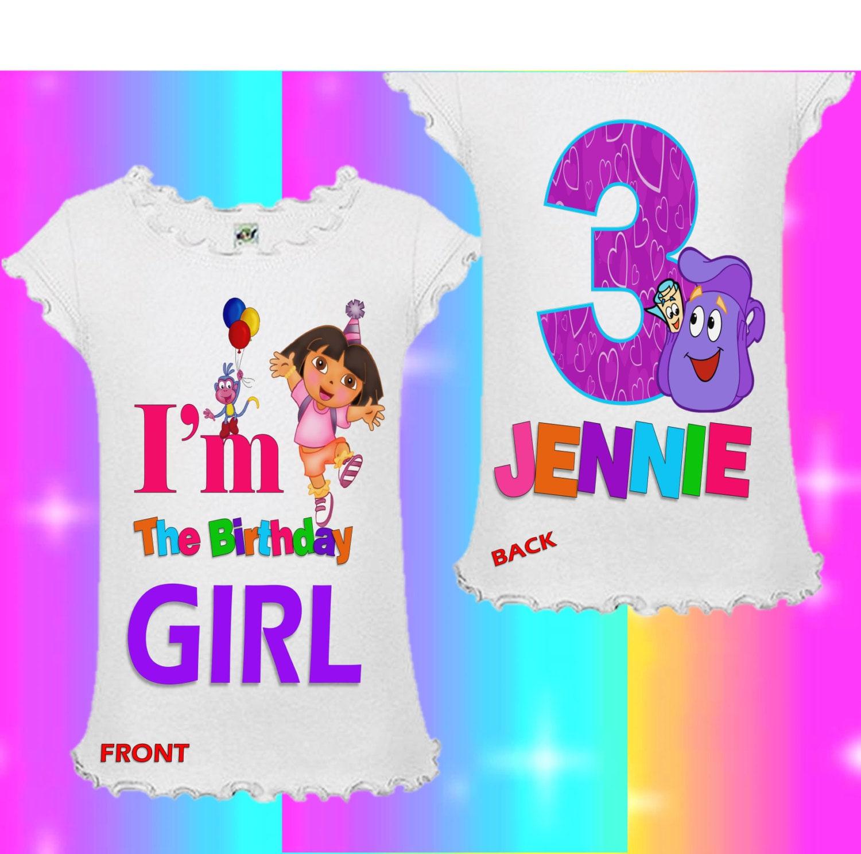 Dora Birthday Shirt The Explorer