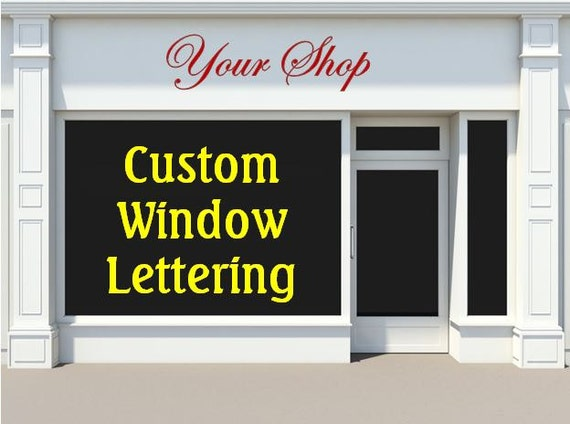 Vinyl windows custom vinyl window decals for Custom vinyl windows