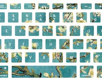 Van Gogh Blossoming Almond Tree Macbook Keyboard Decal Stickers