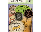 SALE: K&Company Haunted Labels Die Cut Stickers