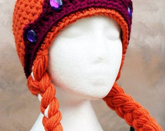 Free Crochet Pattern For Anna Hat : Free Anna Elsa And Olaf Crochet Hat Patterns Party ...