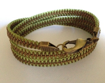 Lime Margarita Zipper Wrap Bracelet