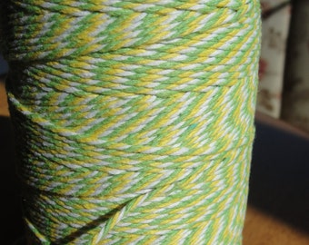 Green and Yellow Baker's twine,green baker's twine craft string yellow bakers twine