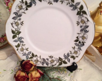 1950s Vintage cake plate made by Crown Staffordshire in the Cotswold Pattern  CP022