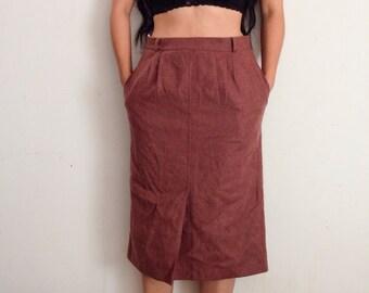Vintage women's wool pencil skirt