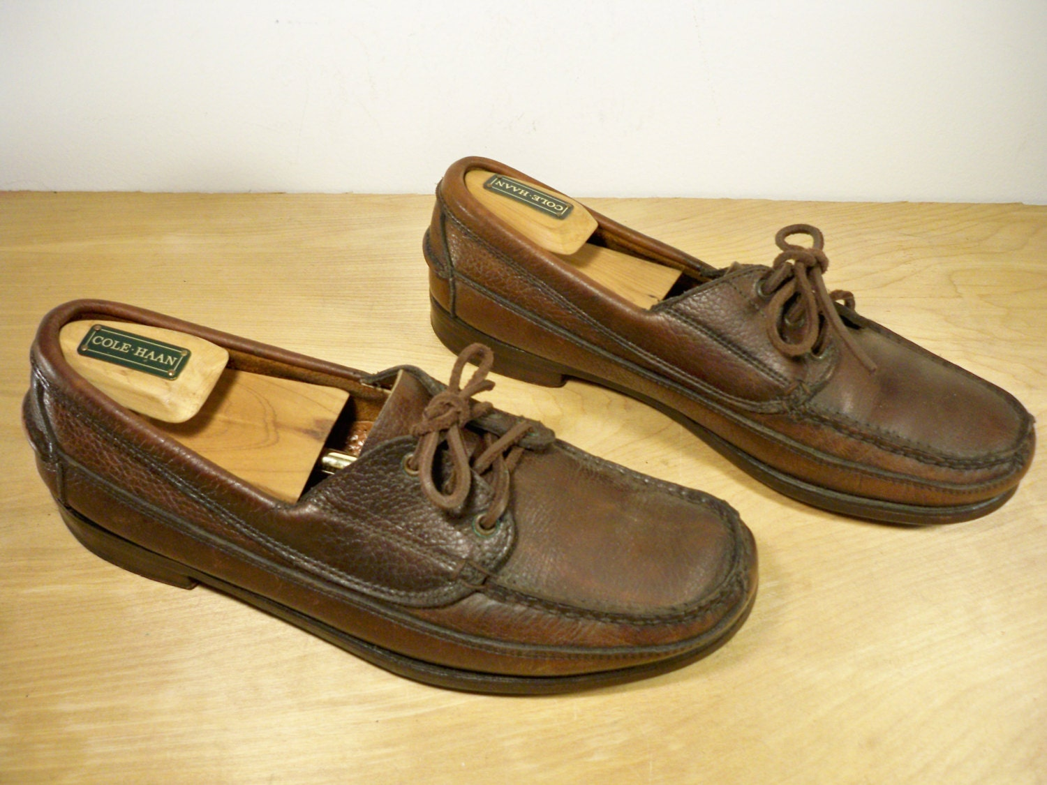 vintage ll bean made in usa brown leather men s work