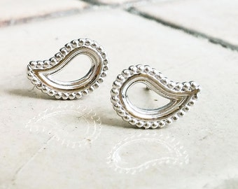 sterling silver  paisley earrings