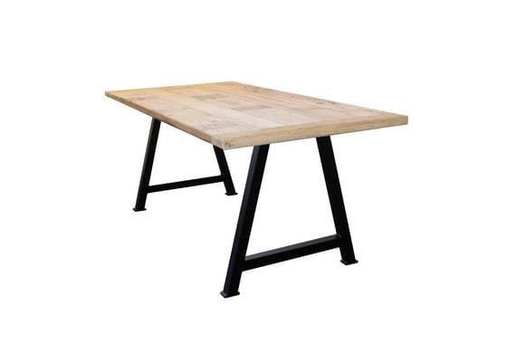 flat black a frame metal table legs set diy build your own aframe