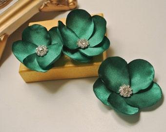 Wedding Hair Piece Bridal Headpiece Wedding Headpiece Emerald Green Fascinator  Hair Pin Flower Headpiece Wedding Hair Flower
