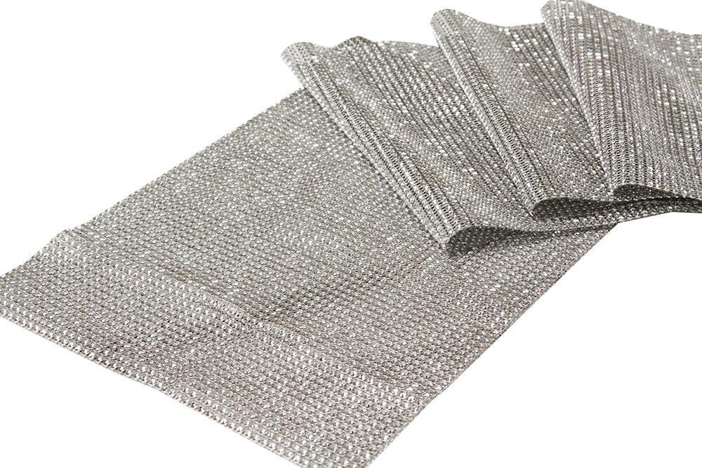 silver diamond table runner bling table runner by. Black Bedroom Furniture Sets. Home Design Ideas
